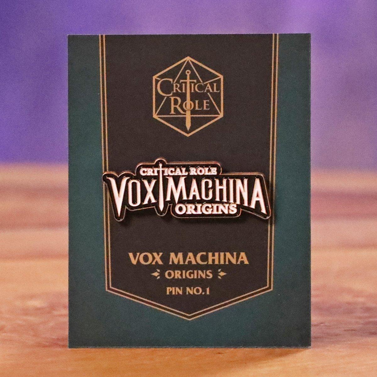 Vox Machina Origins Logo Pin.
