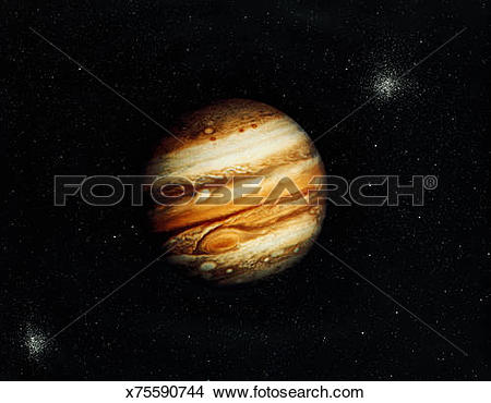 Stock Photo of View of Jupiter from Voyager 1 x75590744.
