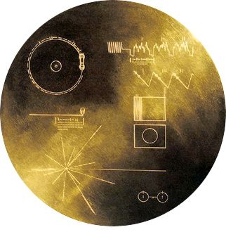 The Voyager Spacecraft's Golden Record containing music (Bach.