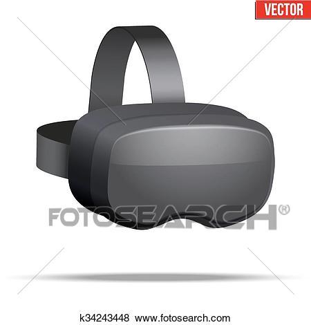 Original 3d VR headset Clip Art.
