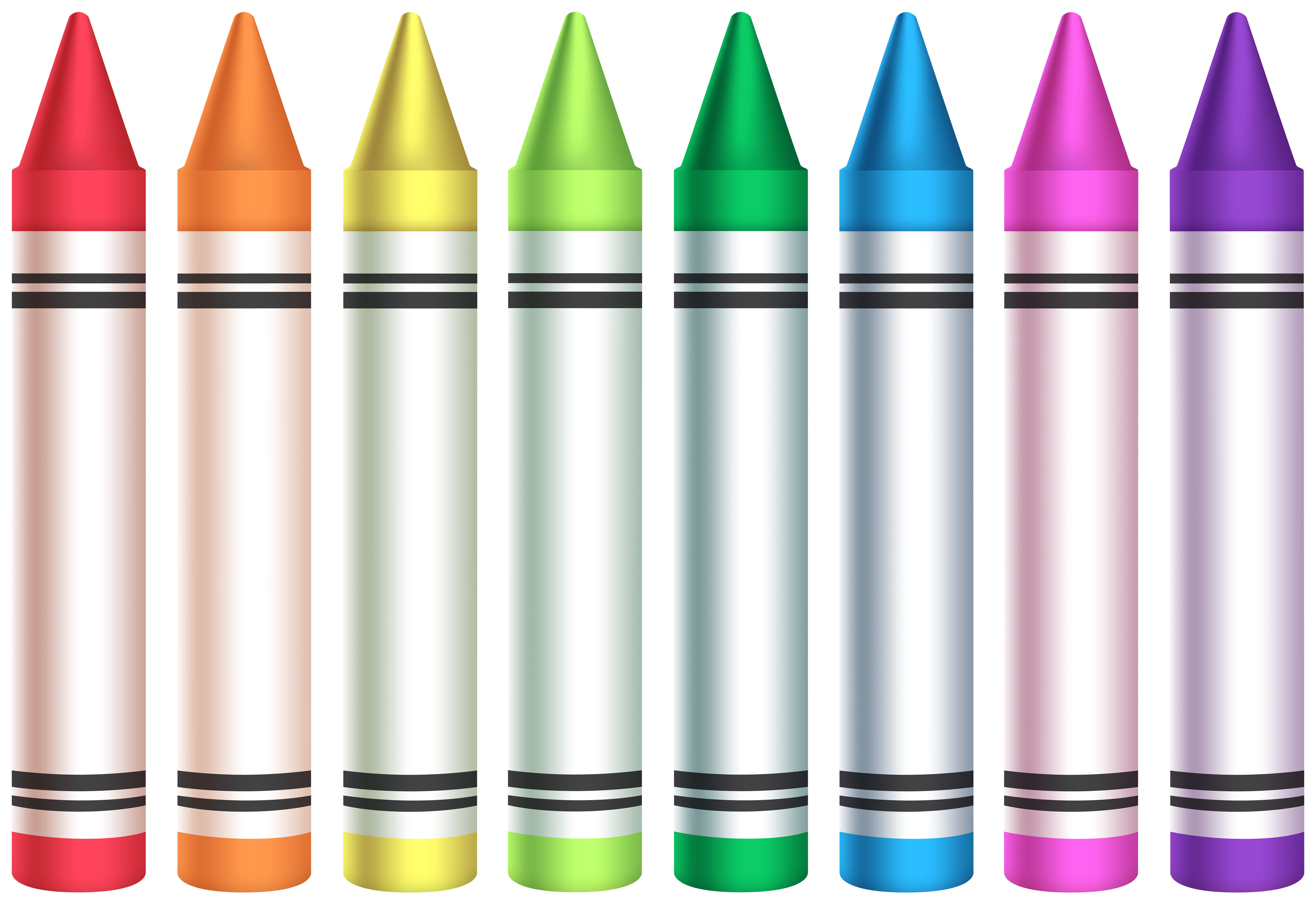Colorful Crayons PNG Clipart.