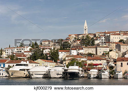Stock Photograph of Croatia, Istria, Vrsar, Parish Church of St.