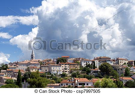Stock Images of Croatia in the summer, city Vrsar, FKK naturist.