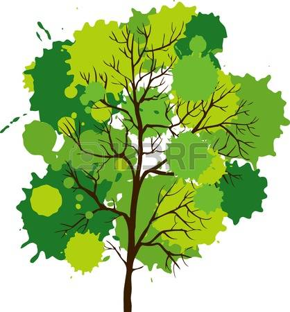 Oak tree grove clipart backgrounds.