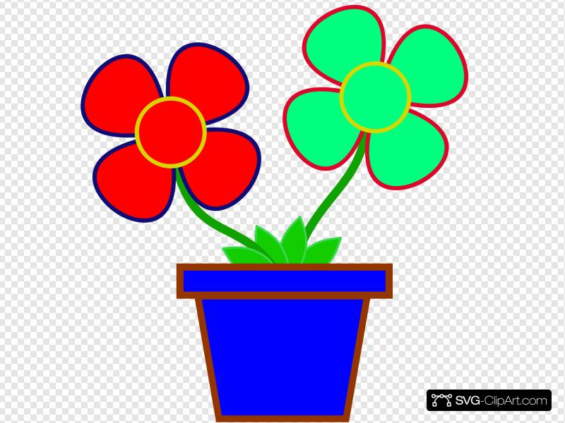 Flowers10 Clip art, Icon and SVG.