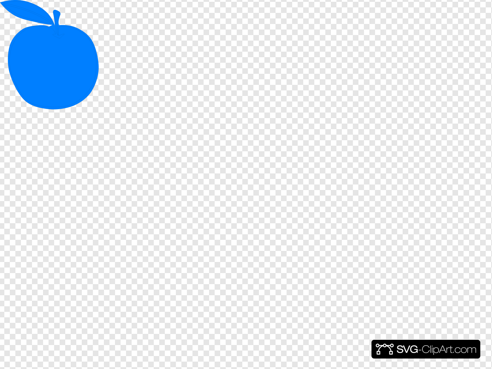 Mela Azzurra Clip art, Icon and SVG.