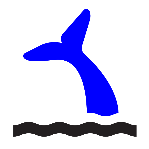 Blue Whale Tail Clip Art at Clker.com.
