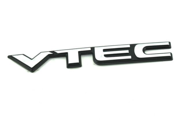 OEM Honda VTEC Emblem Badge Chrome Made in Japan 75725S04T00 Genuine Parts.