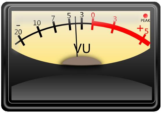 Free VU Meter Clip Art.