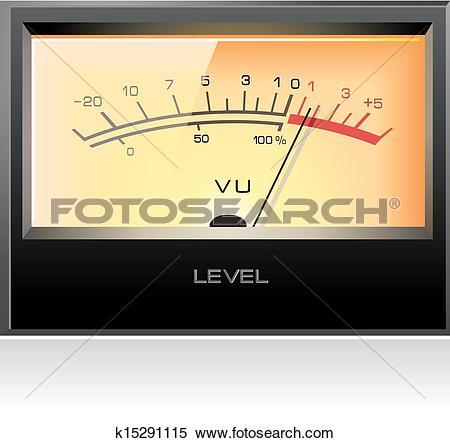 Clipart of Analog Signal VU Meter vector k15291115.