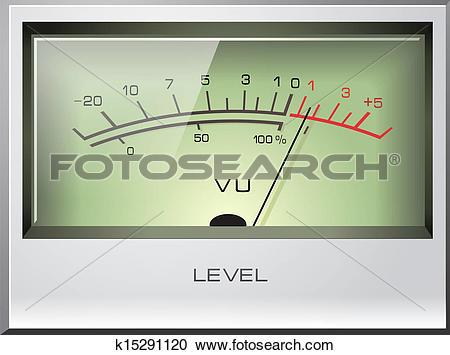 Clipart of Analog Signal VU Meter vector k15291120.