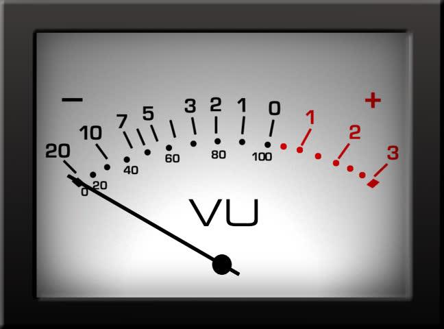Vu Meter Stock Footage Video.
