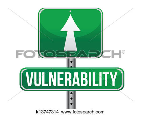 Clipart of vulnerability road sign illustration design k13747314.