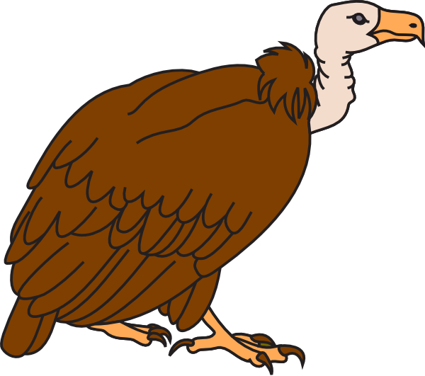 Cute Vulture Clipart.