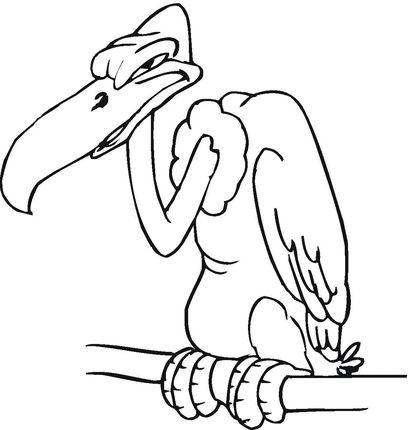 Buzzard coloring page.