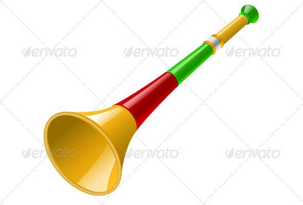 Vuvuzela Vector by SwirlVector.