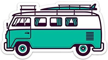 VW Surf Van Bus Sticker Decal 5\