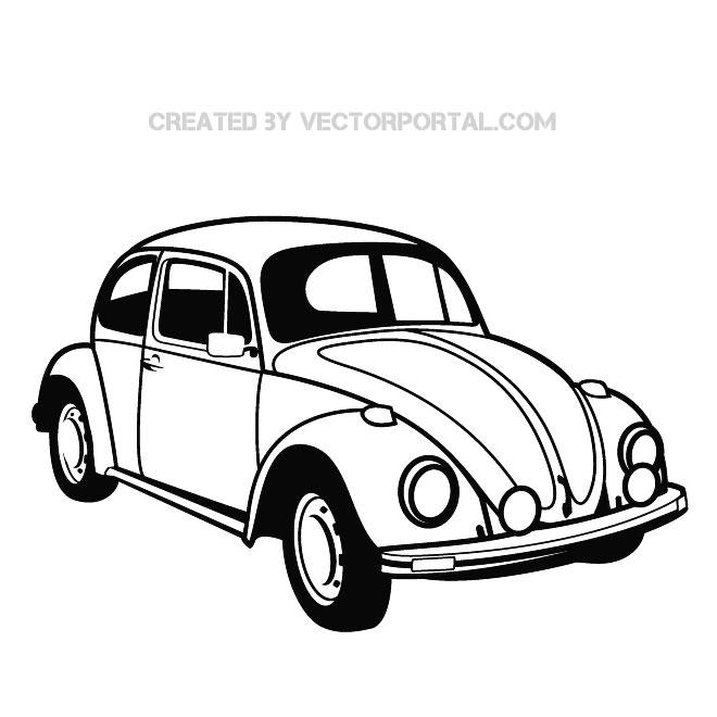 Volkswagen Bug Silhouette Clipart.