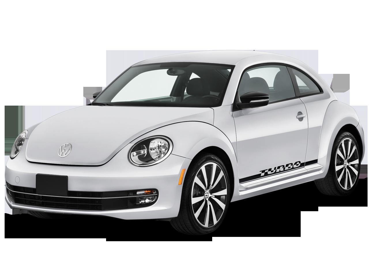 White Volkswagen Beetle PNG car image.