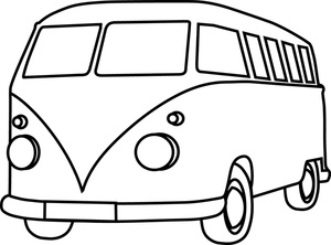 Vw bus clipart free.