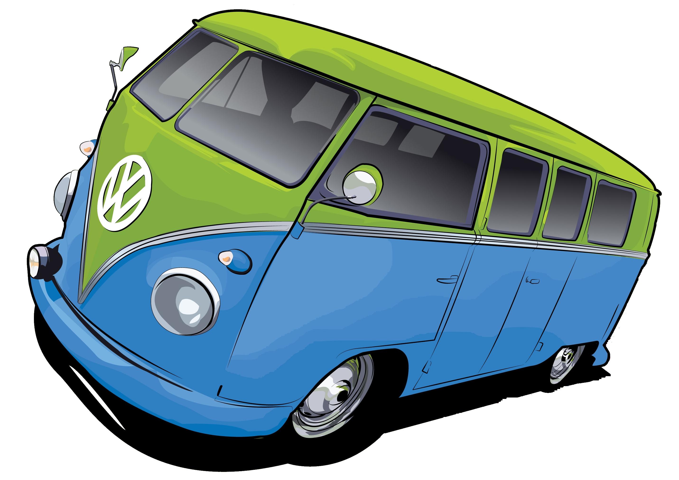 Vw Bus Karikatur.