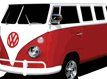 VW Bus, Cliparts.