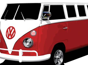 VW Bus, Cliparts.