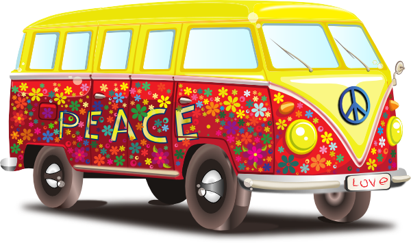 176 Vw Bus free clipart.