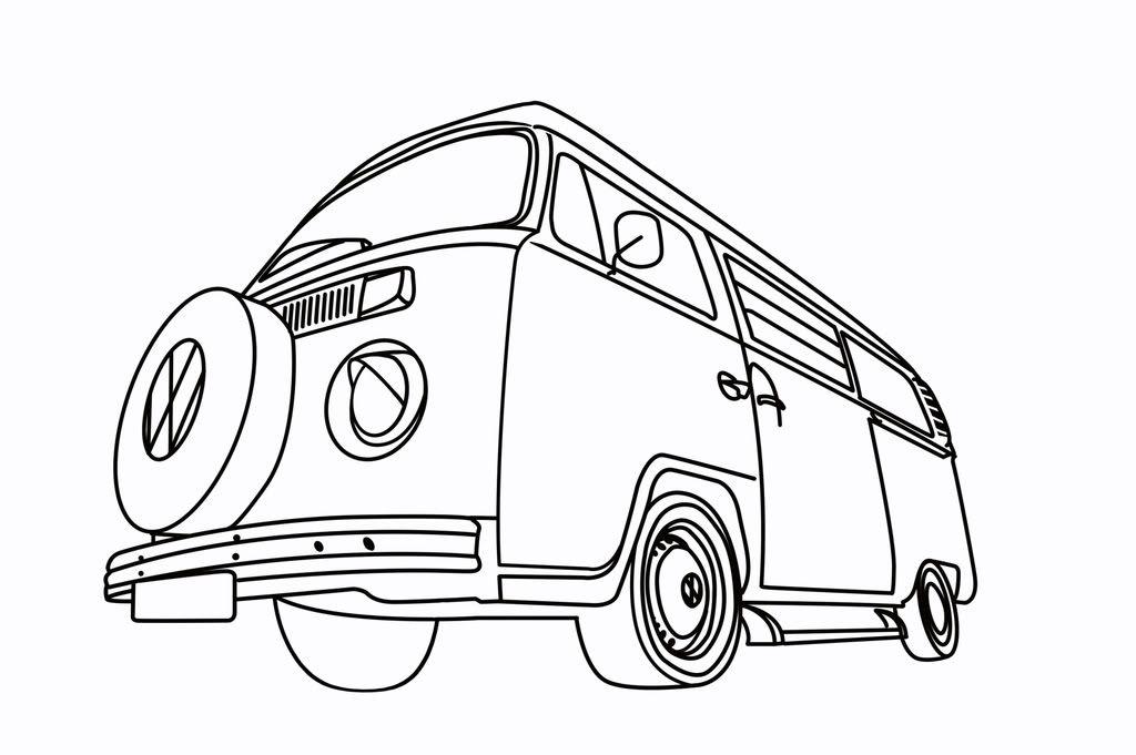 VW Campervan Bay Picture.