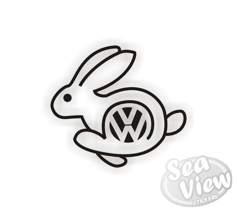 Volkswagen Rabbit Logo.