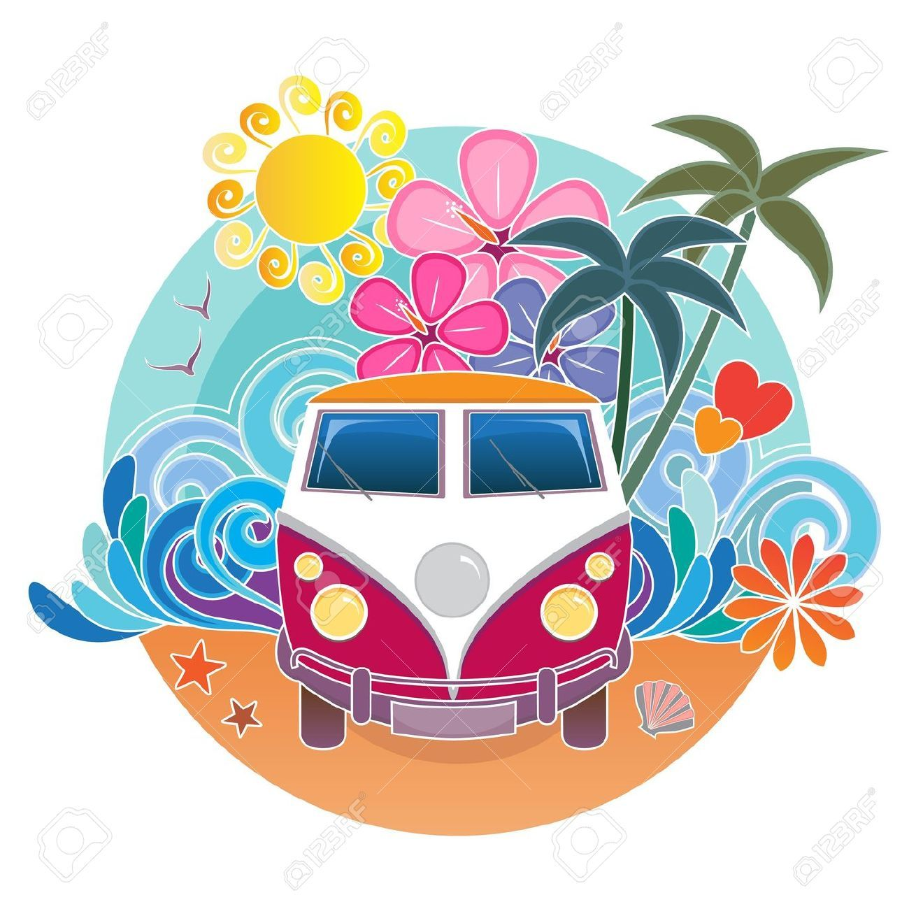 Retro Van Stock Vector Illustration And Royalty Free Retro.