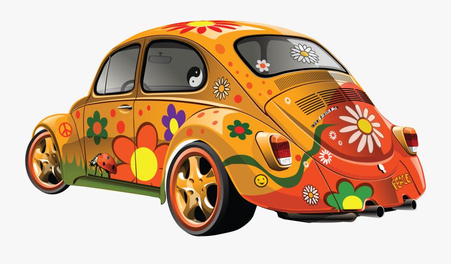 Hippie Beetle Png , Free Transparent Clipart.