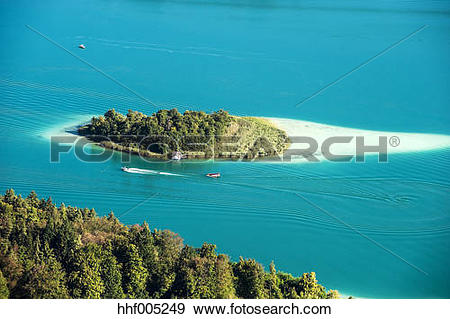 "Stock Photograph of ""Austria, Carinthia, Kapuzinerinsel at Lake."
