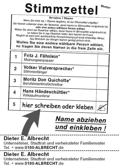 Wahlzettel Clipart.