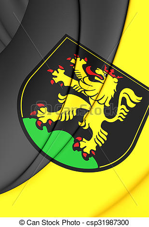 Stock Illustration of Flag of Heidelberg (Baden.