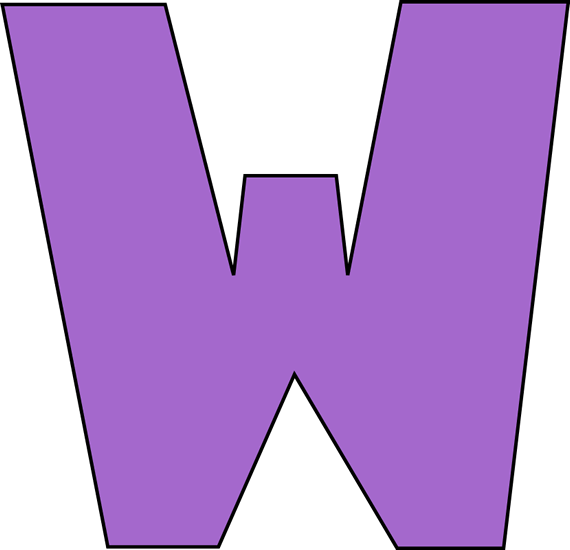 Letter W Clipart.