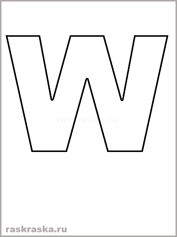 Letter w clipart black and white 5 » Clipart Station.