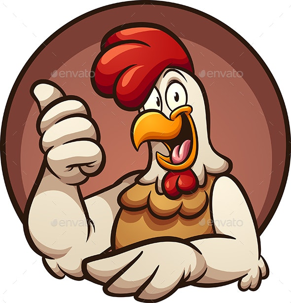 Chicken Thumbs Up.