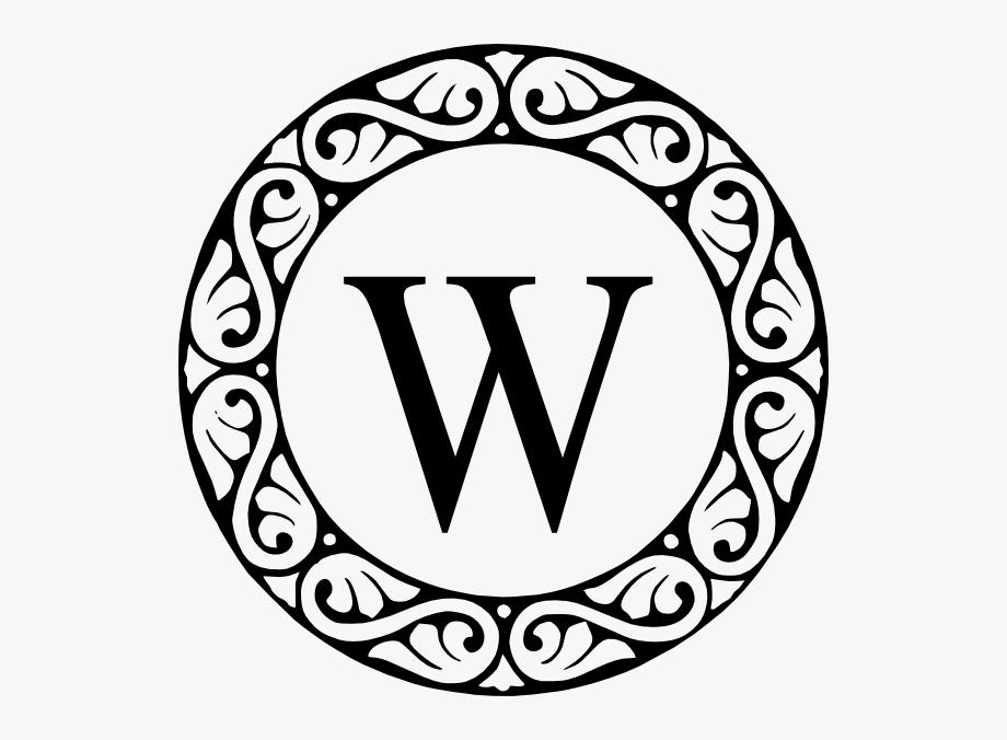 Letter W Monogram Clip Art.
