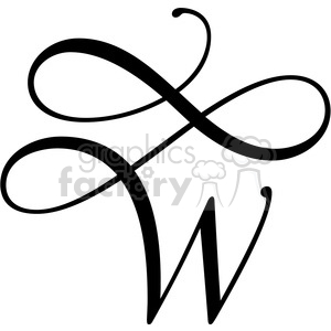 monogrammed w clipart. Royalty.