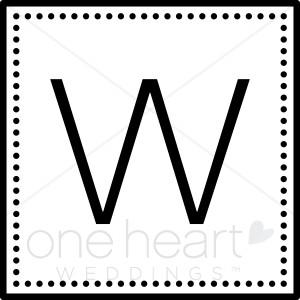 Monogram W Clipart.