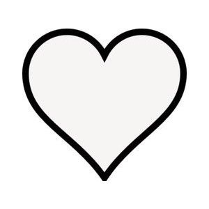 transparent heart w black outline heart clipart.