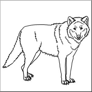 Clip Art: Wolf B&W I abcteach.com.