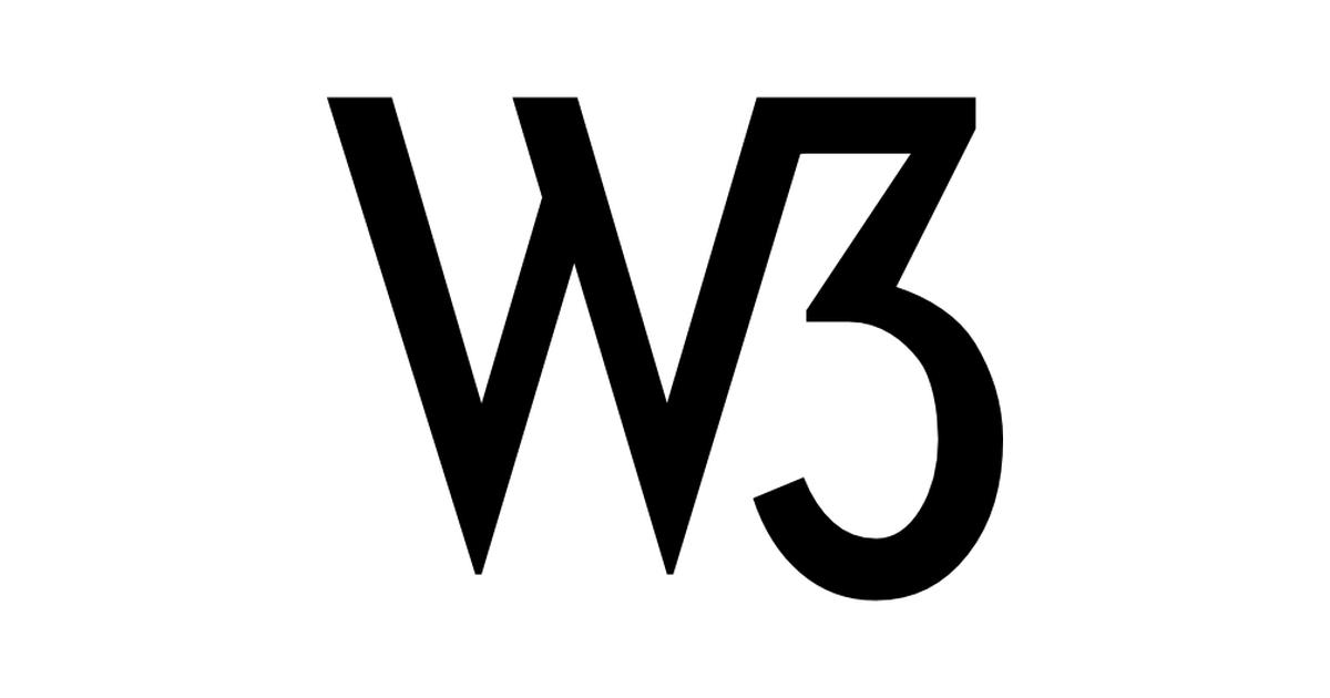 W3 logo.