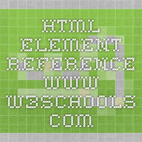 HTML element reference.