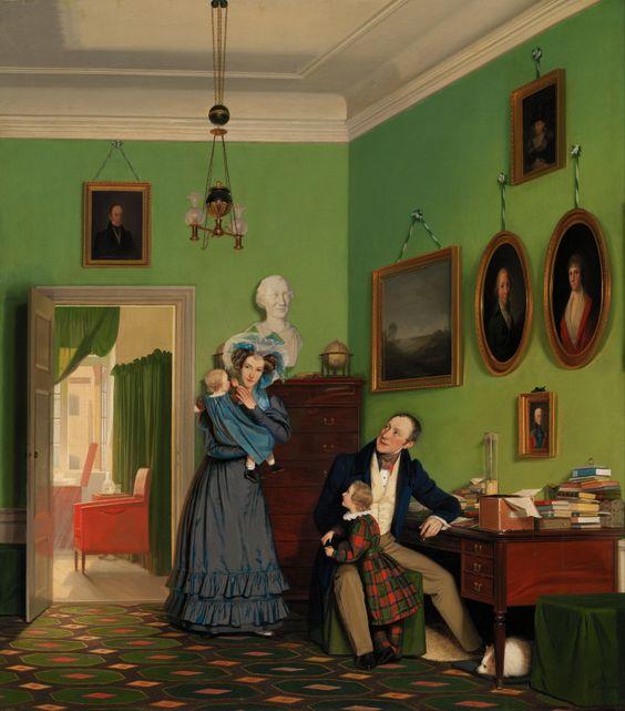 The Waagepetersen Family, by Wilhelm Bendz, 1830.