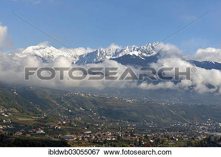 """Picture of """"View from Marlinger Waalweg over Merano towards the."""