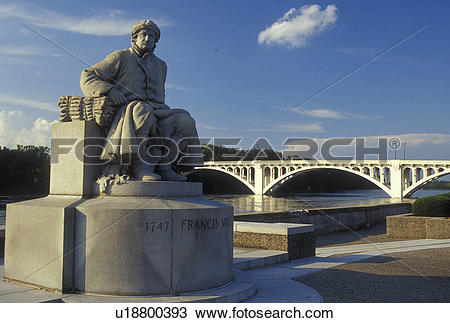Stock Photo of Vincennes, IN, Indiana, Lincoln Memorial Bridge.