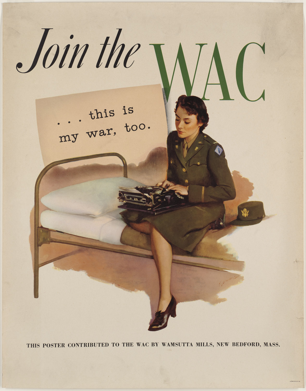 WAC Recruitment Poster ★ from World War II, heading reads: Join.