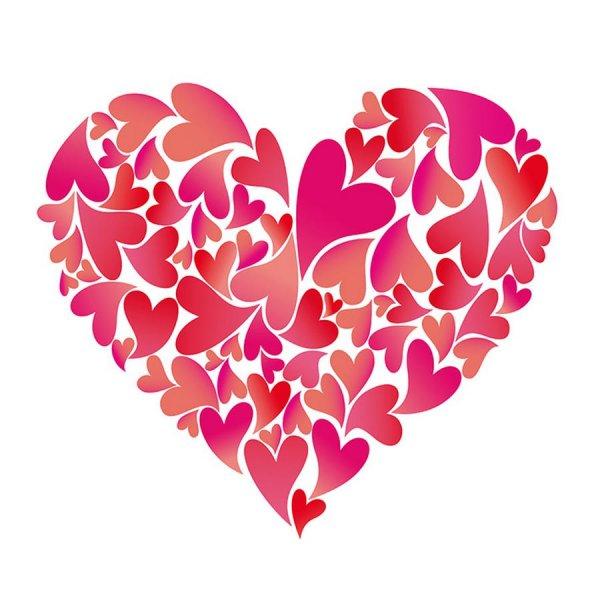 Wachsbild heartbeat (60 x 60 mm).
